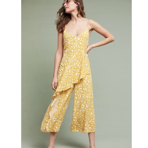 ac09587e6143 Anthropologie Pants - Anthropologie MAEVE | Britney Yellow Jumpsuit